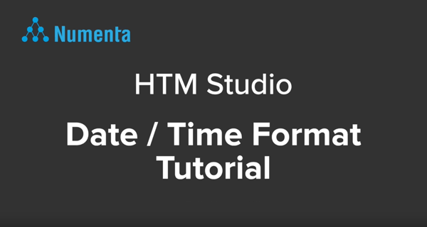 Numenta | Date/Time Format