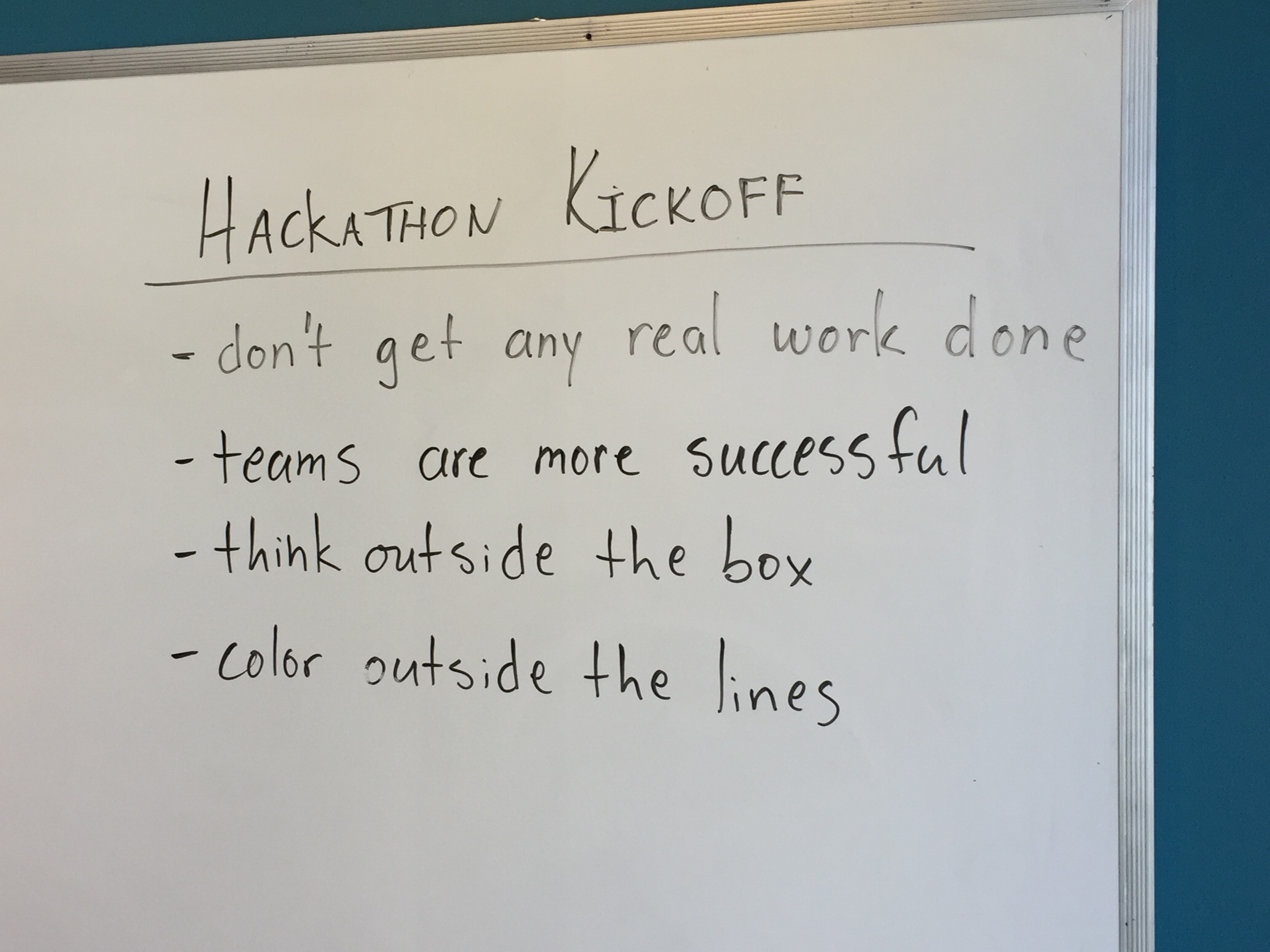Numenta Internal Hacakthon Rules